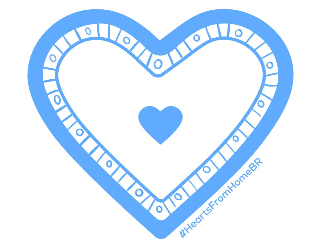 Hearts from Home logo, blue heart