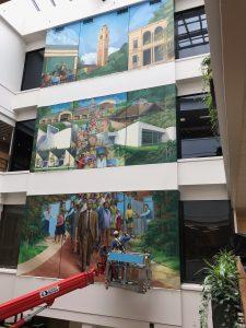 Julian White Atrium Mural