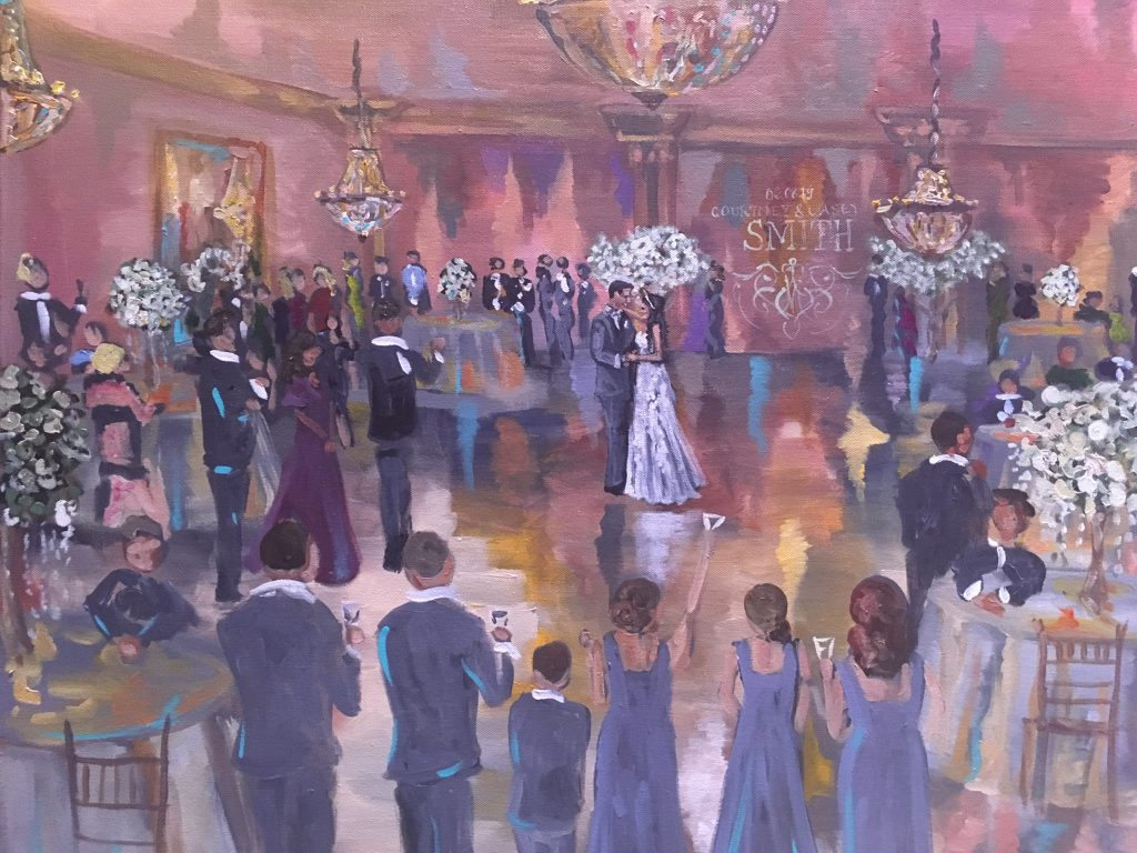 Painting of wedding