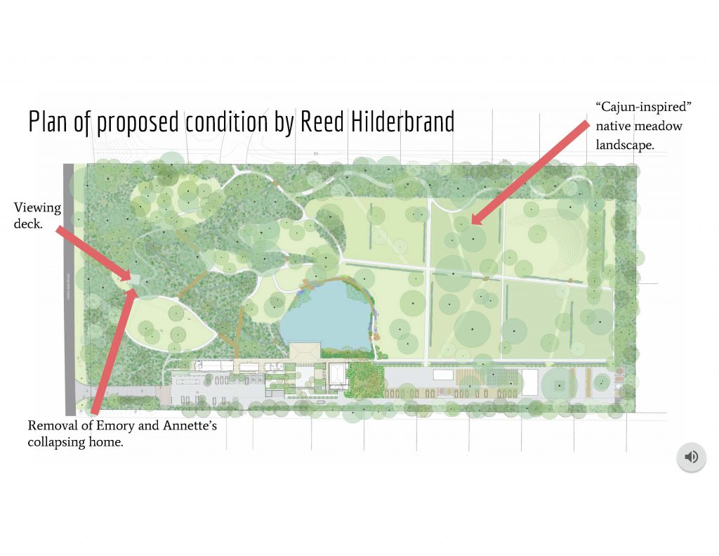 """""""Plan of proposed condition by Reed Hilderbrand."""" Illustration of greenspace"""
