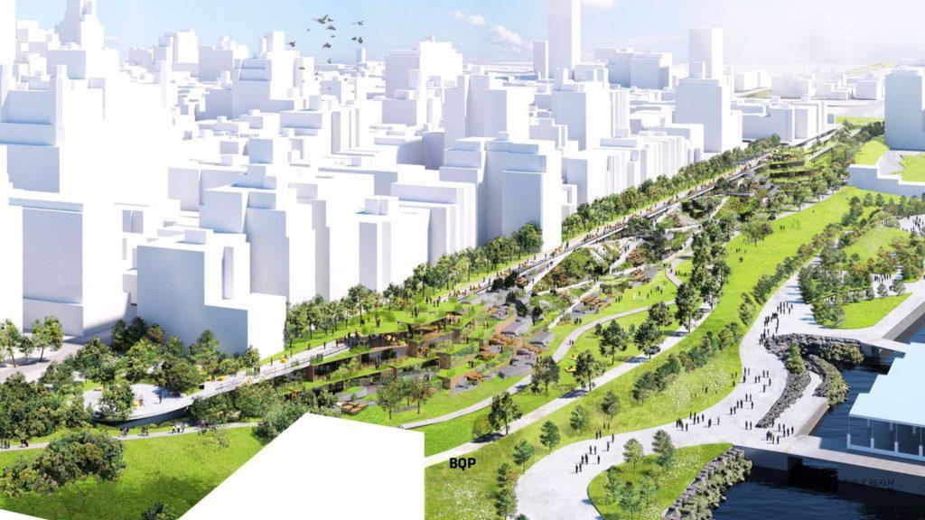 simulated city
