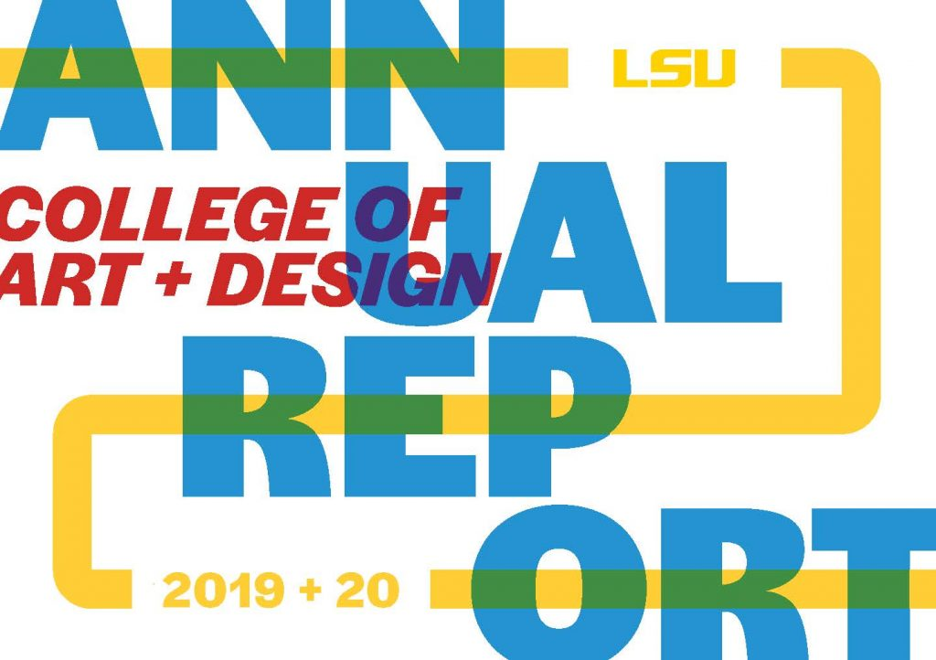 College of Art & Design 2019-20 Annual Report Cover