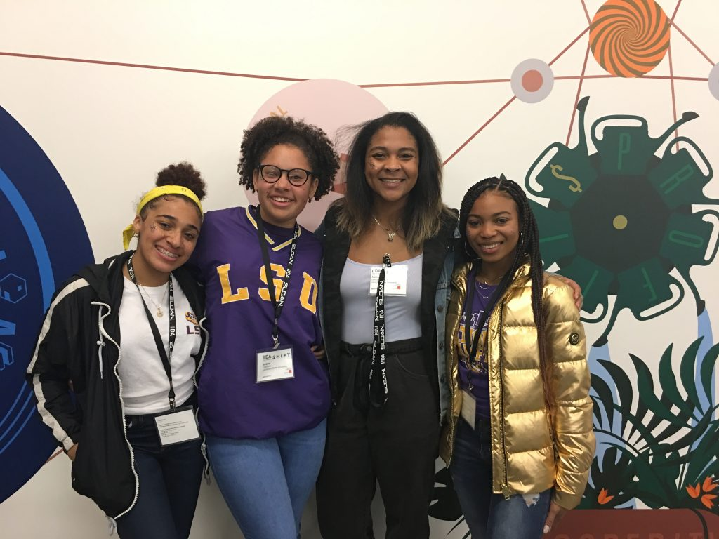 Four female black students