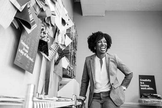 Kia Witherspoon, black & white image