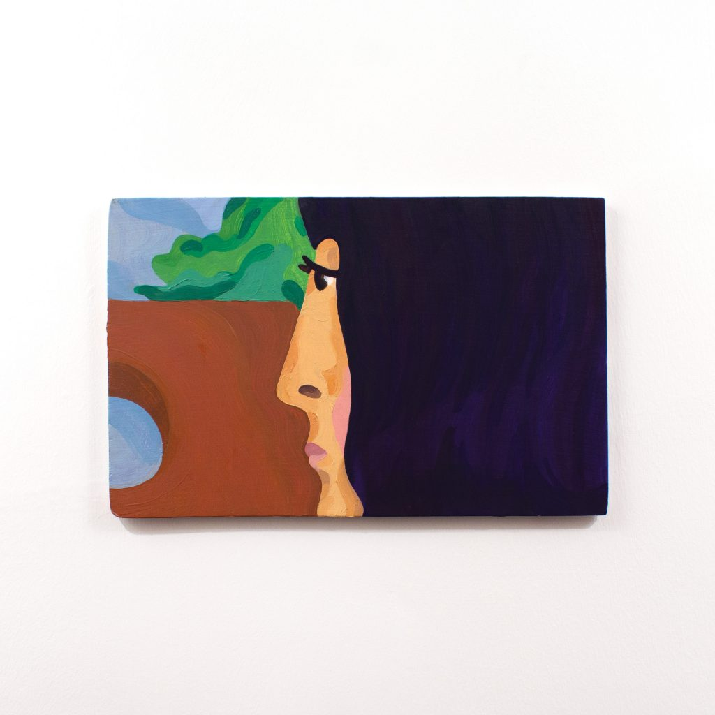 painting of face profile