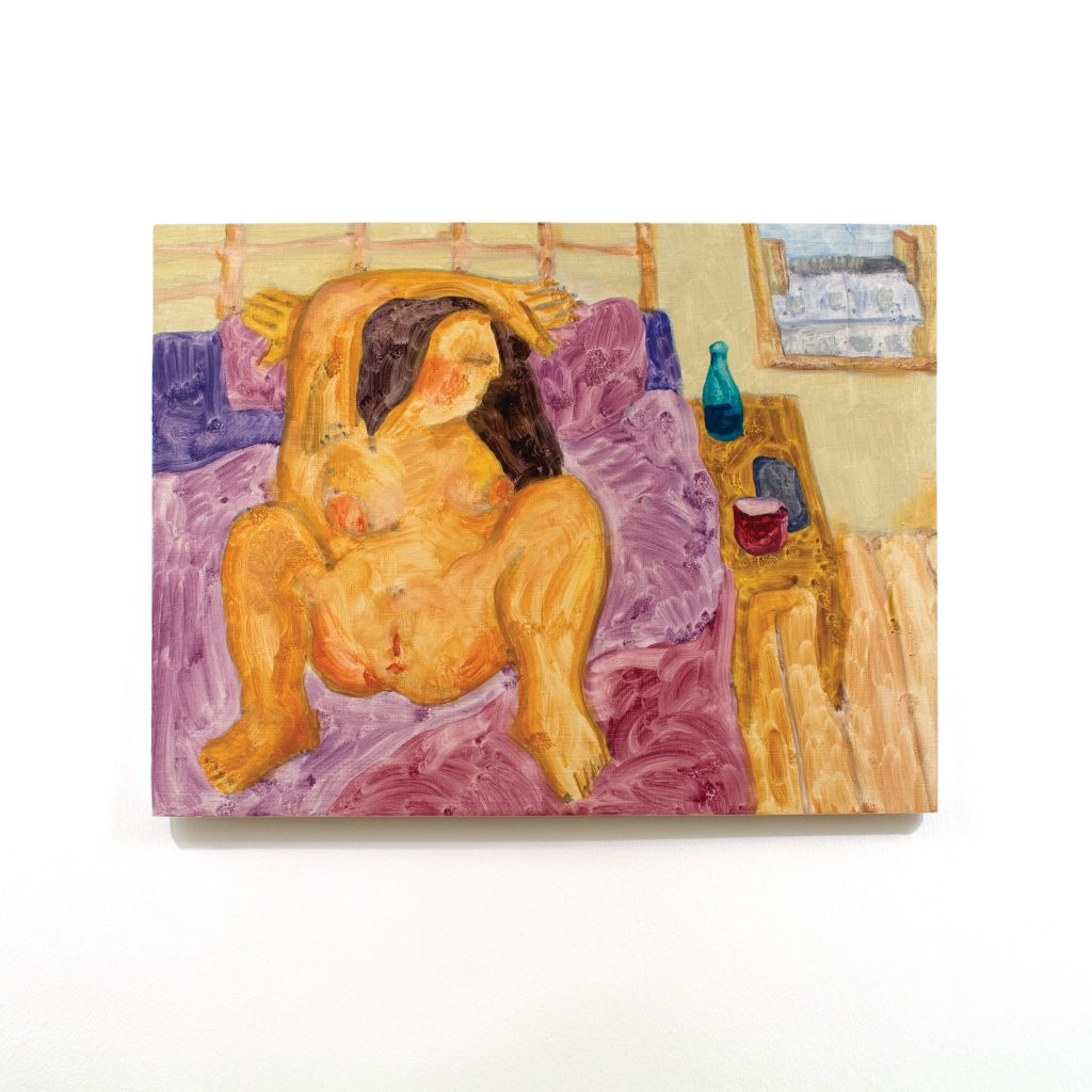 Painting of seated female figure