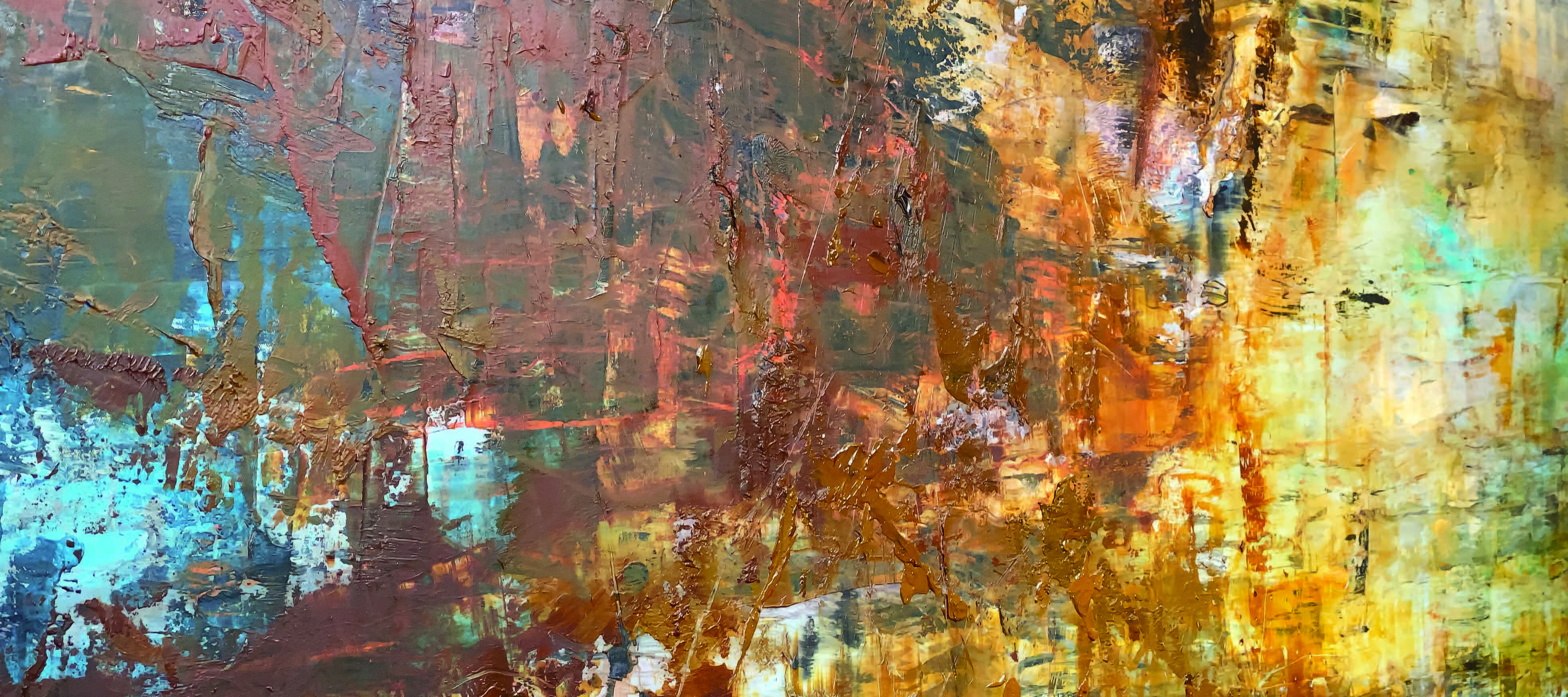 Colorful textured abstract painting