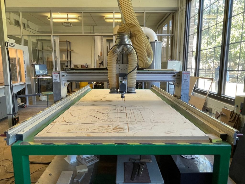 CNC router machine table
