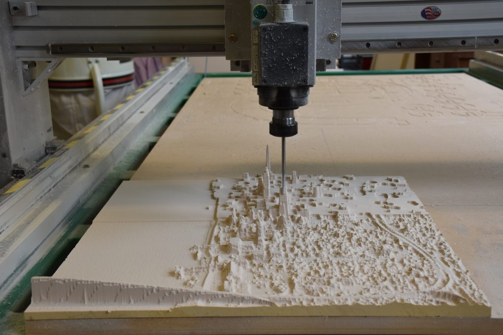 CNC mill carving