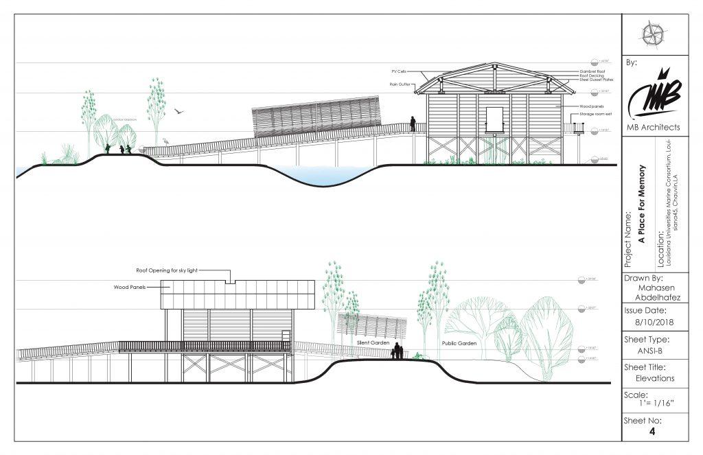 Landscape building cross section