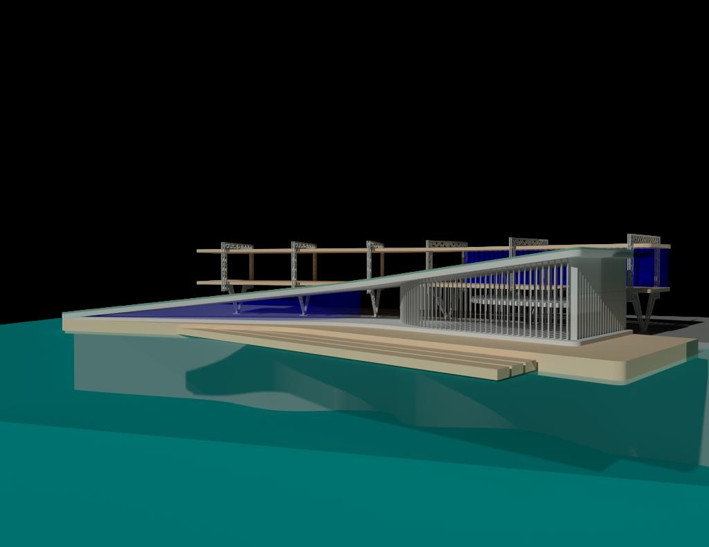 Building by water rendering