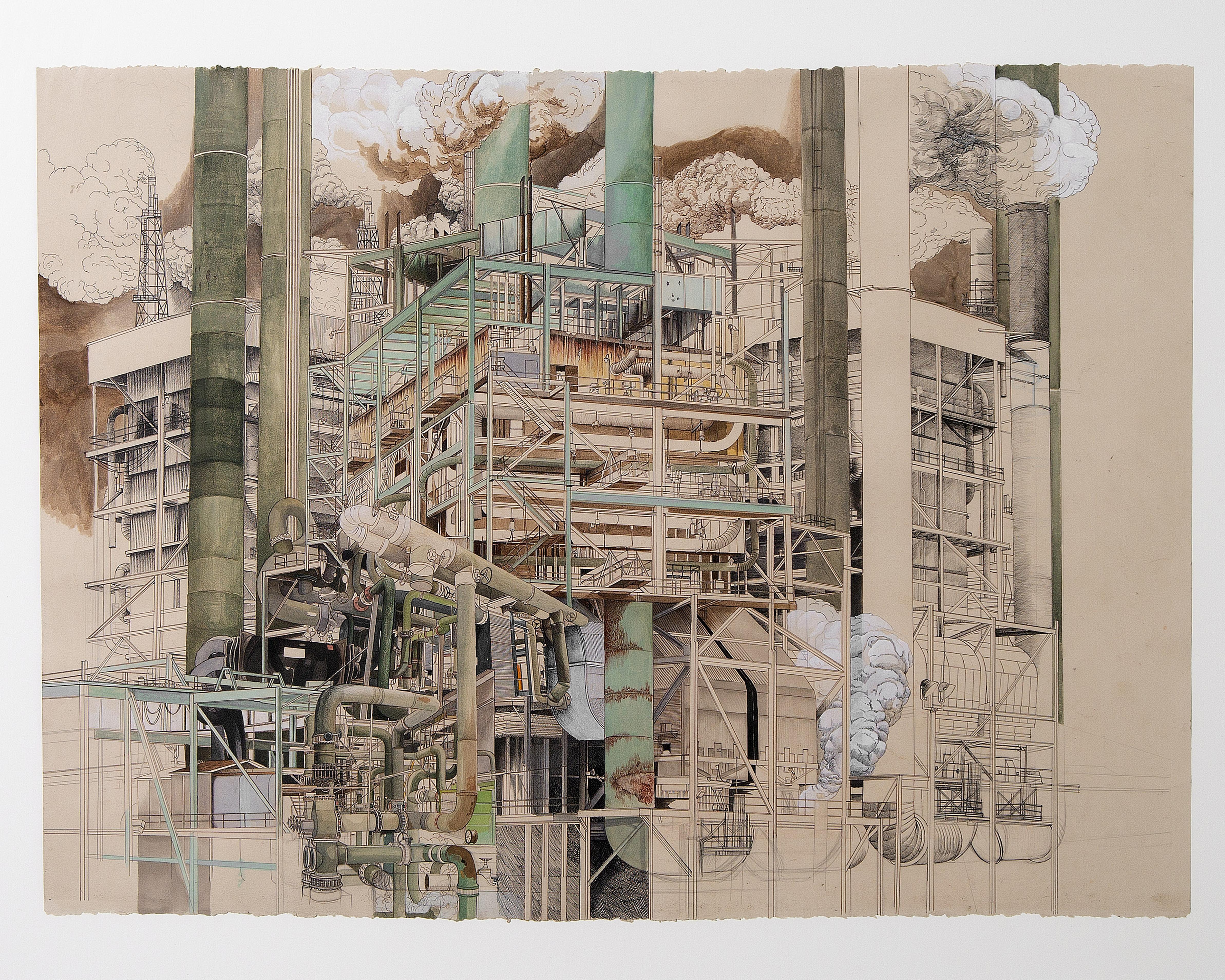 Print of machinery