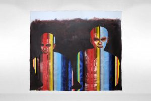 Colorful figures. Boogie Man by Chris Marin