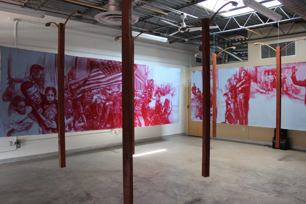 Large red murals